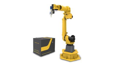 робот файбър лазерно заваряване